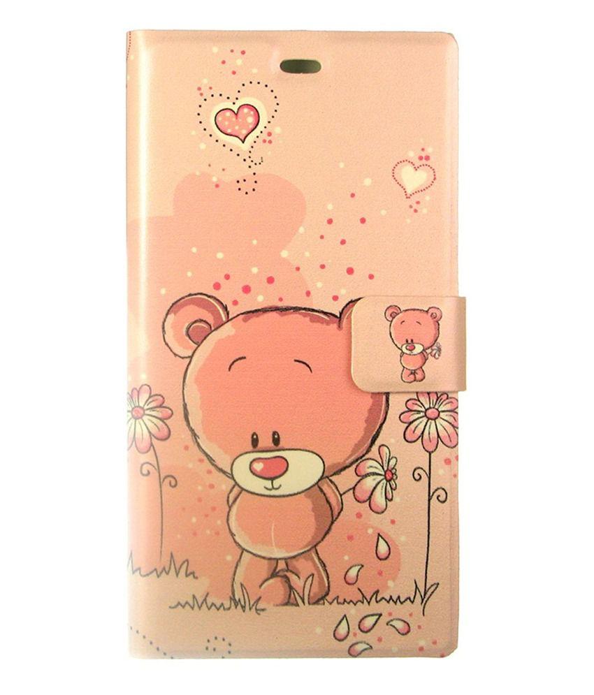 Dressmyphone Flip Cover For Xiaomi Mi 3 - Peach