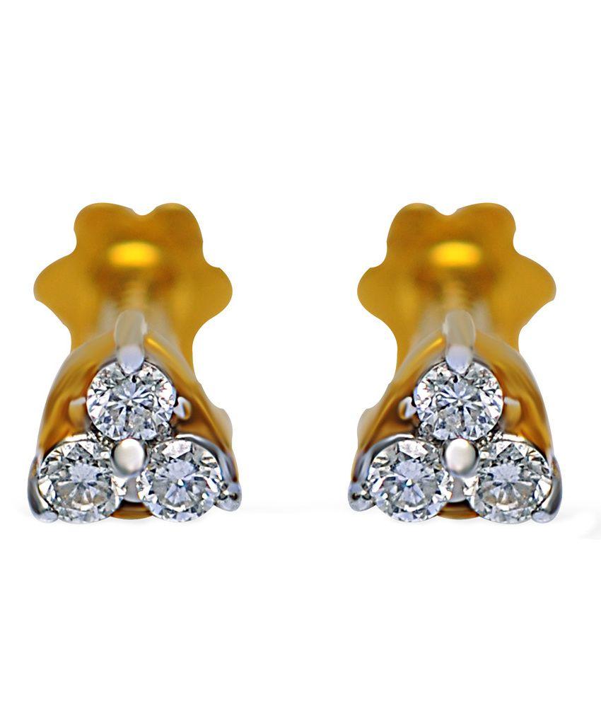 Jacknjewel Cher Contemporary Diamond Earrings