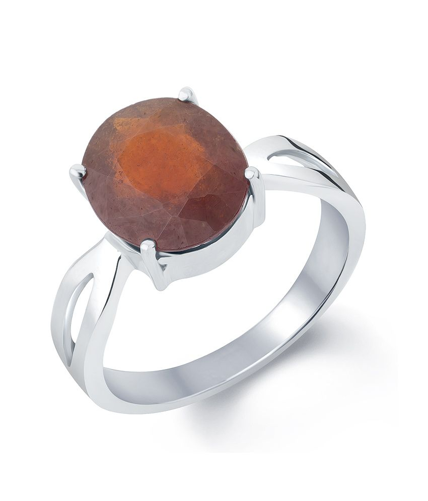 Gemstone GOMED Silver Ring 92.5: Buy Gemstone GOMED Silver Ring ...