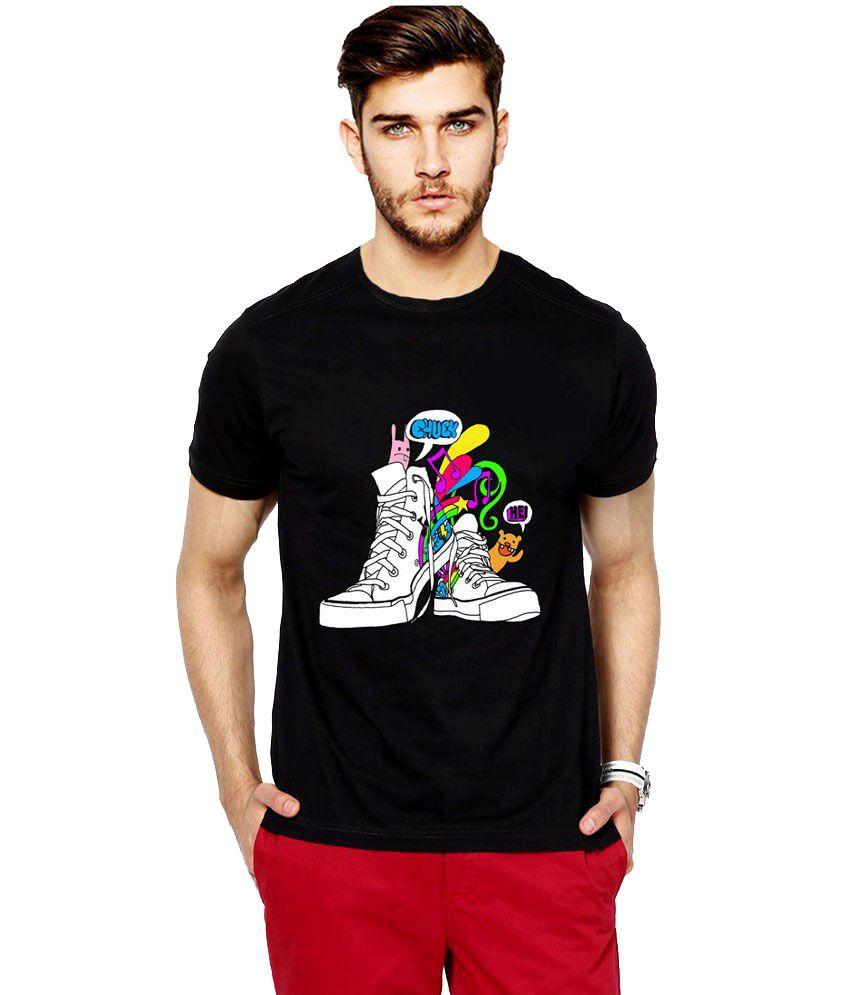 Ilyk Dancing Shoes Men Black Printed T-shirt