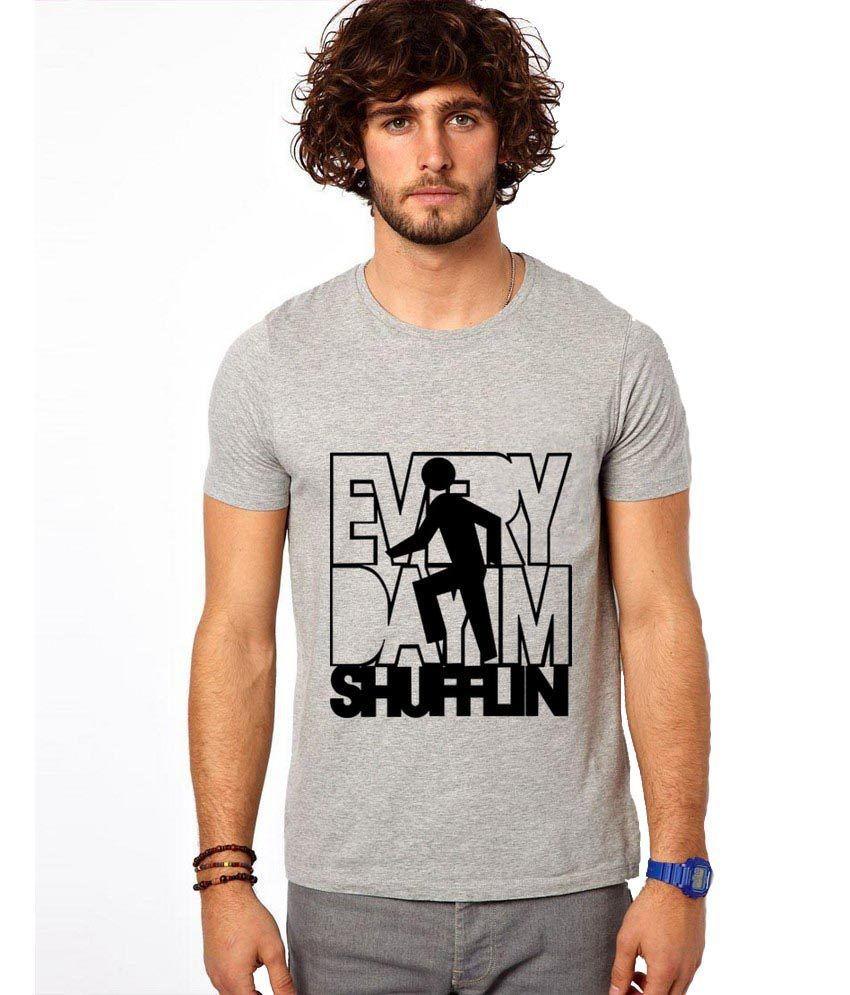 Ilyk Every Day I'm Shuffling Men Grey Printed T-shirt