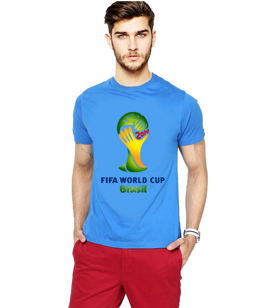 Ilyk Fifa World Cup Men Blue Printed T-shirt