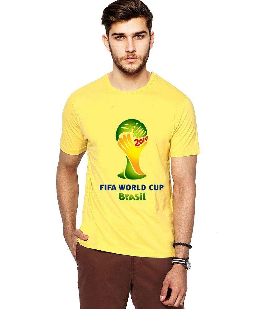 Ilyk Fifa World Cup Men Yellow Printed T-shirt