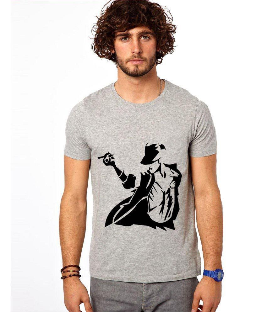 Ilyk Mj Men Grey Printed T-shirt