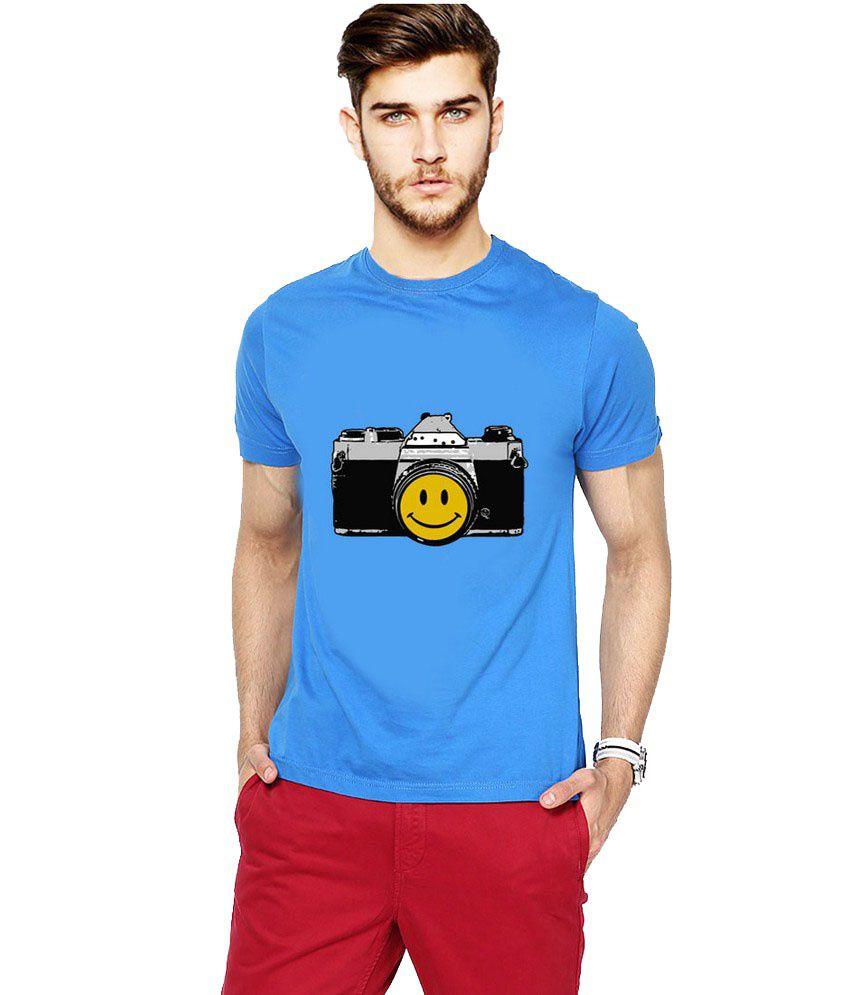 Ilyk Smile Please Men Blue Printed T-shirt