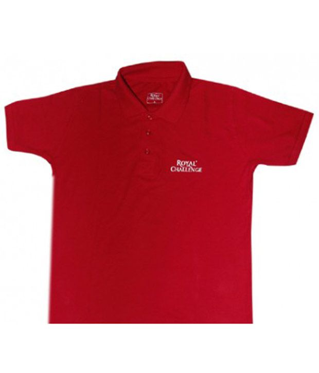 Polo T-Shirt - Royal Challenge (Red)