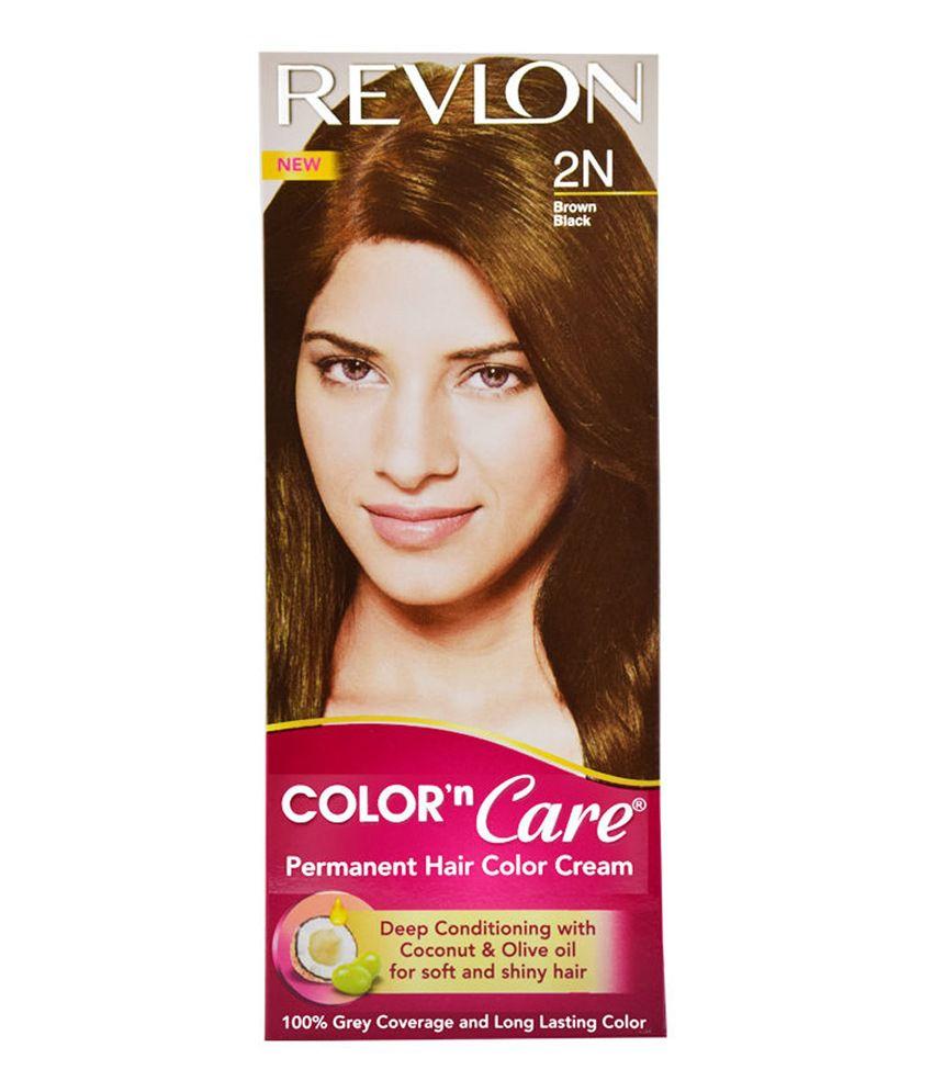 Revlon Permanent Hair Color Brown Black 2n  Hair Color Cream 40gCream Dev