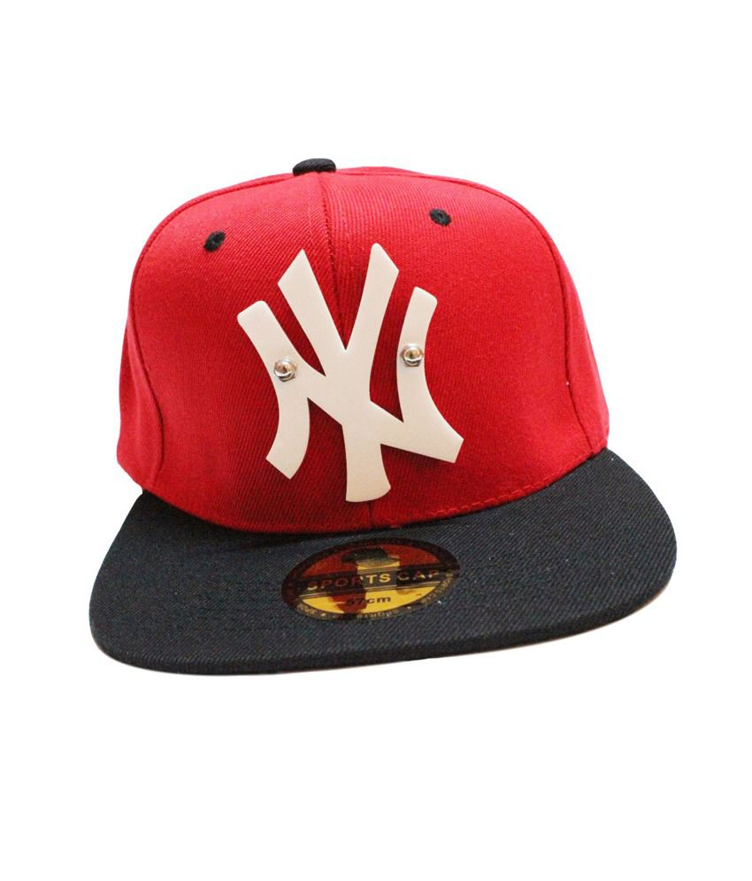 NY 3D Snapback & Hiphop Caps (Red & Black)