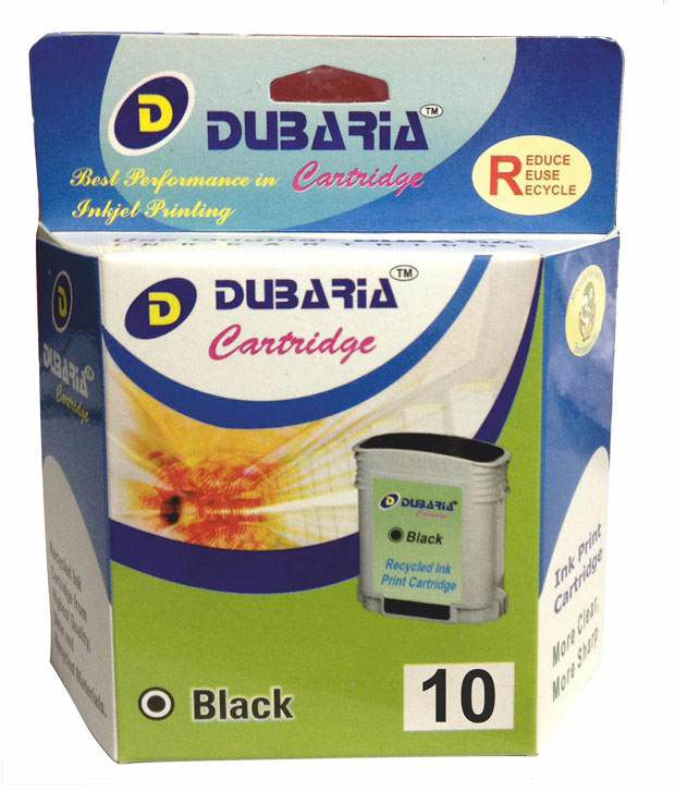 Dubaria 10 Black Ink Cartridge Compatible For Hp 10 Black
