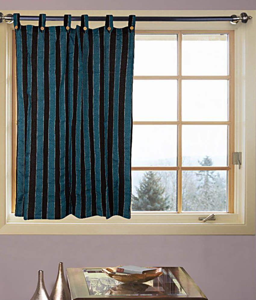 Kings furnishing single window eyelet curtain stripes blue buy kings furnishing single window