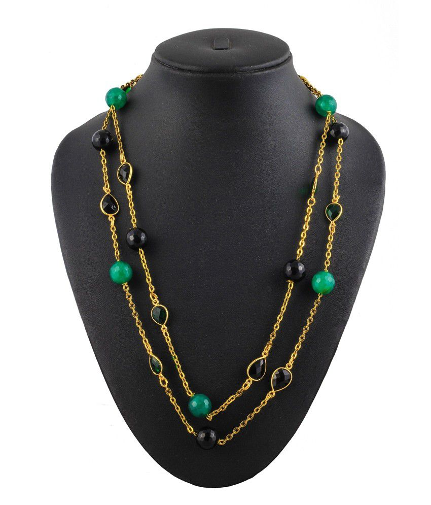 Unique Strings Green Contemporary Daily Wear Casual Hit Necklace
