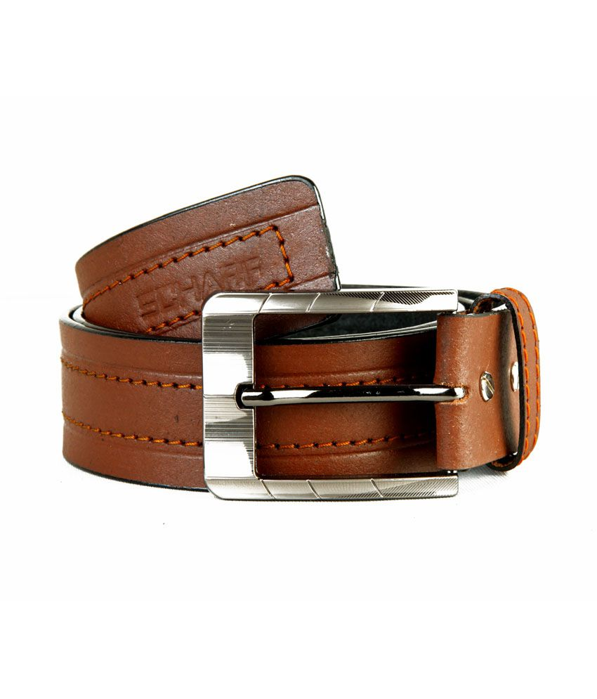 Scharf Genuine Leather Brown Belt