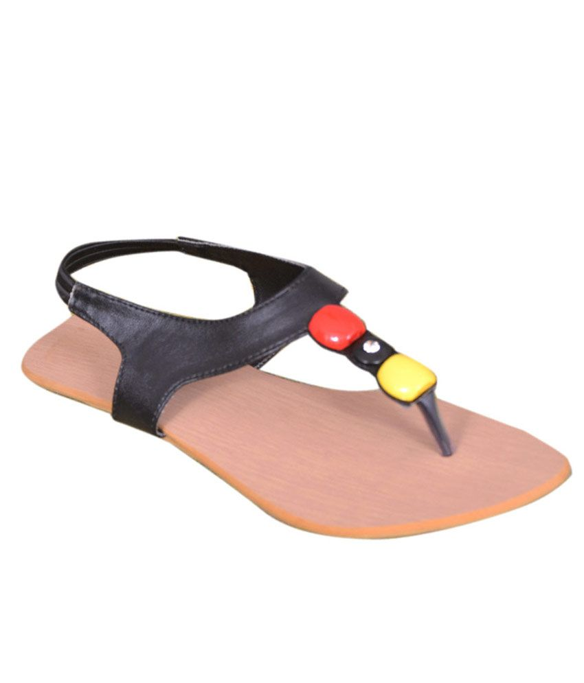 Shoe Mate Black Flat Slip-on