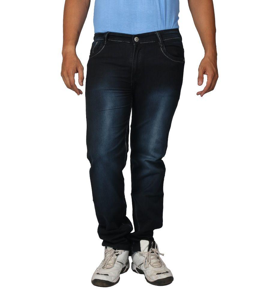 Hosten Blue Regular Full Size Men's Jeans_34