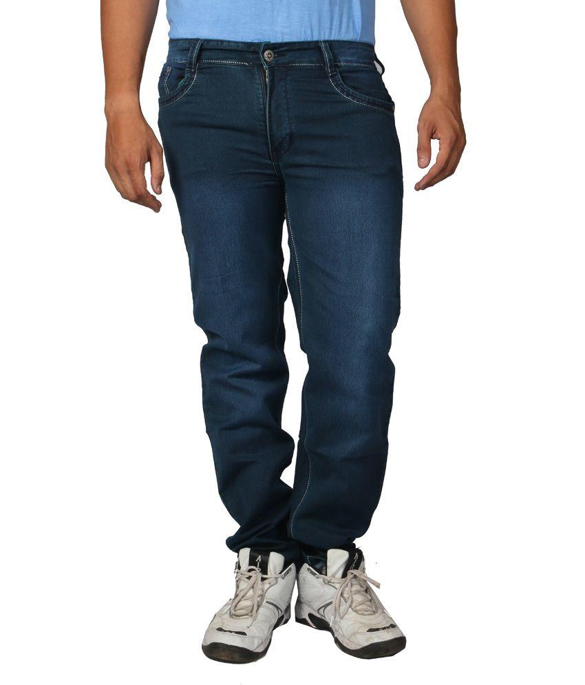Hosten Blue Regular Full Size Men's Jeans_36