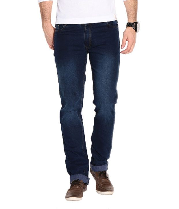 Rodeo Dark Blue Smart Stretchable Mens Jeans
