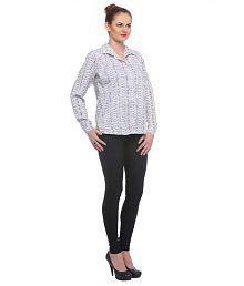 Nemis White Polyester Shirts