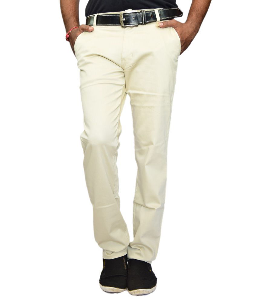 British Terminal Ghostwhite Comfort Casuals Chinos