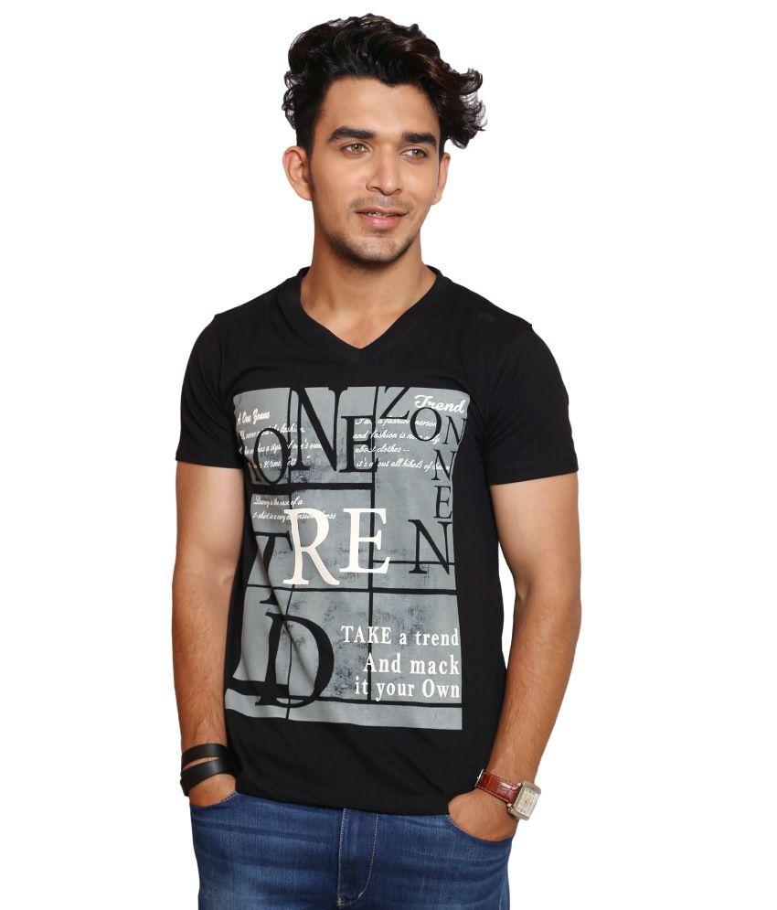 A1 Tees Black Cotton T-shirt