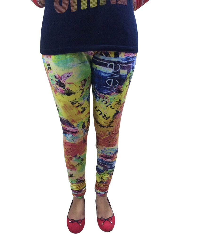 Evizza Multicoloured Printed Leggings Price in India - Buy Evizza ...