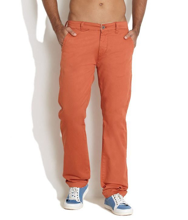 Lee Orange Super Cool Casual Pants