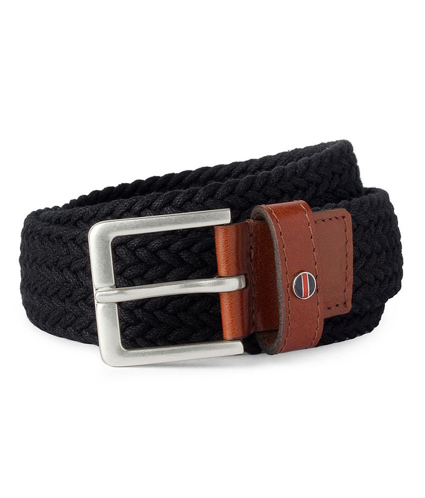 Louis Philippe Black Casual Single Belt For Men