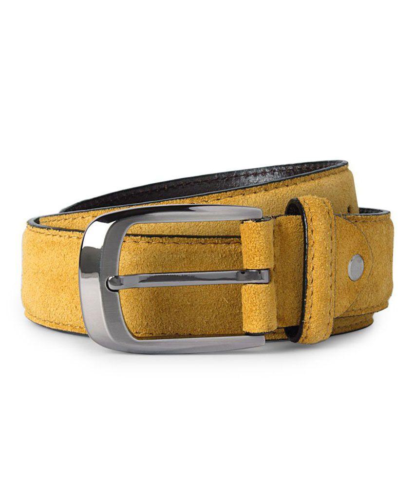 Van Heusen Yellow Casual Single Belt For Men