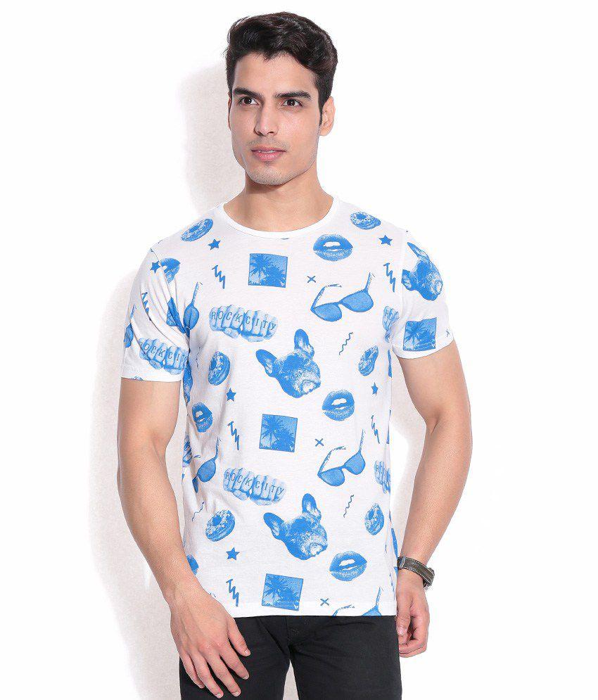 Jack & Jones White Polyester T-Shirt