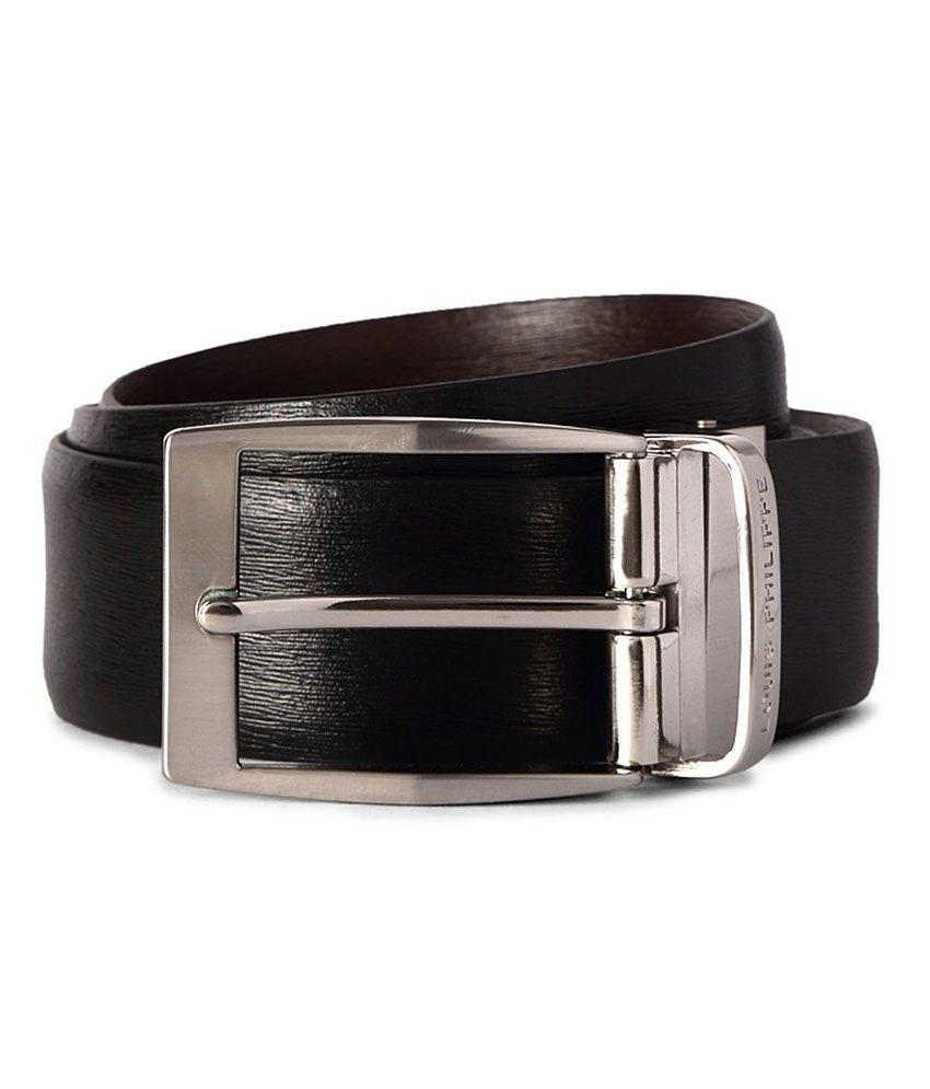 Louis Philippe Black Casual Single Belt For Men