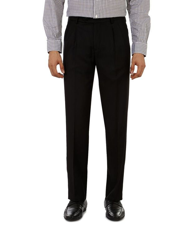 Peter England Black Regular Formals