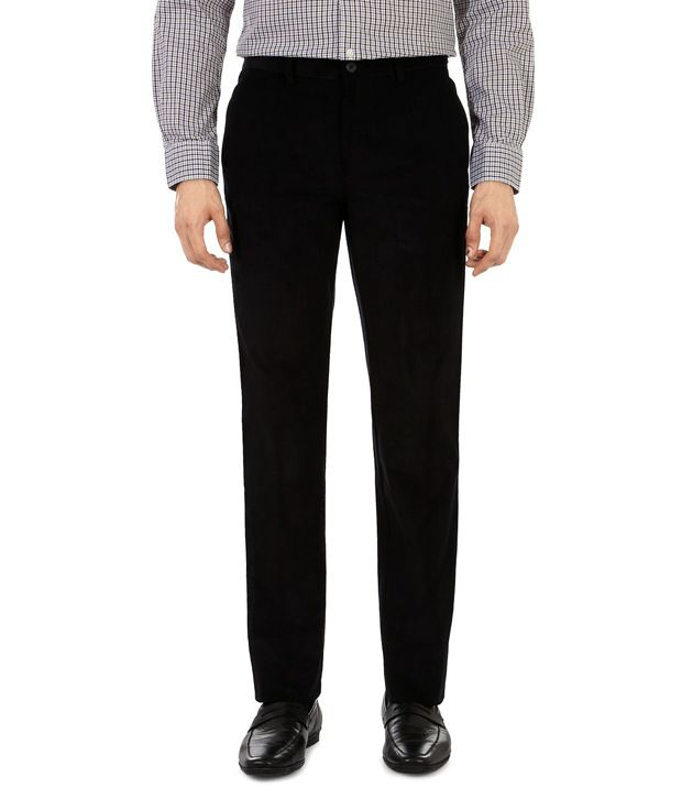 Peter England Black Regular Formals