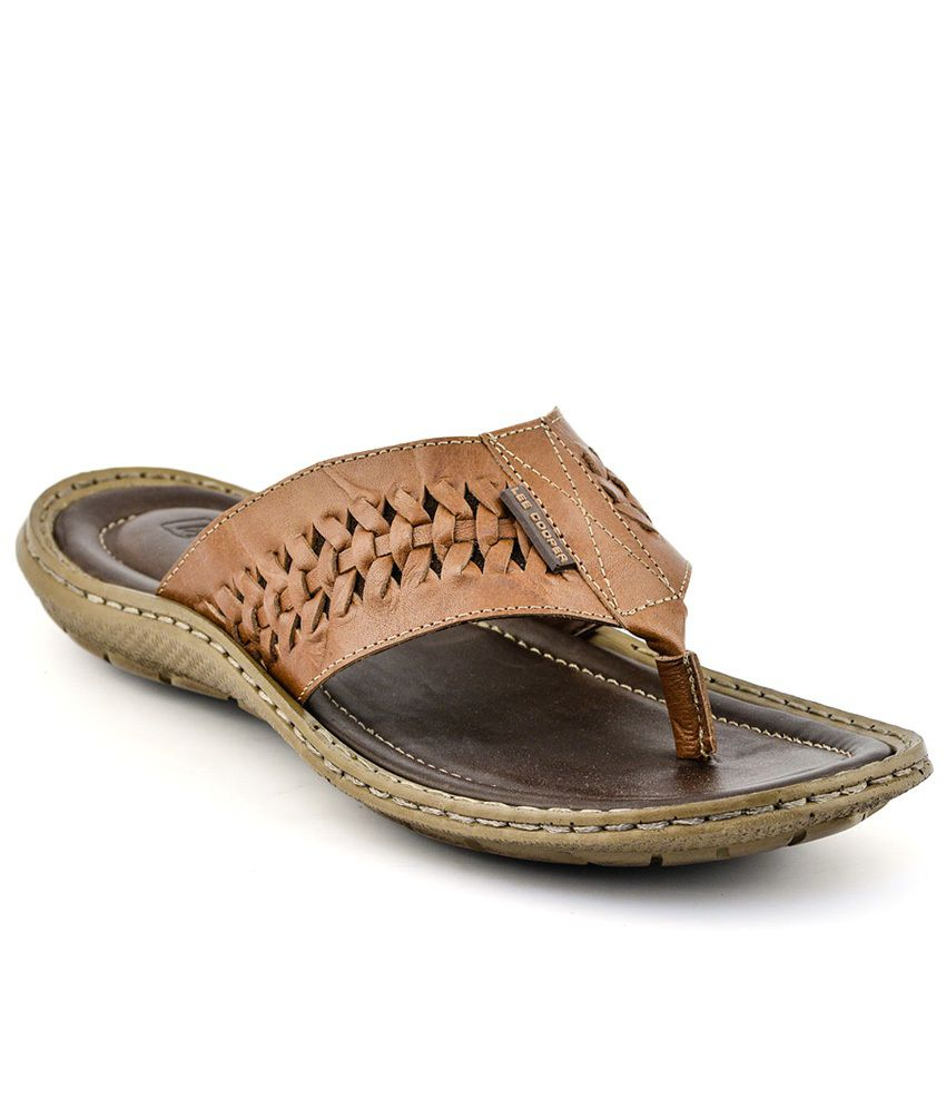 6383b6f7412 Lee Cooper Tan Thong slippers Price in India- Buy Lee Cooper Tan Thong  slippers Online at Snapdeal