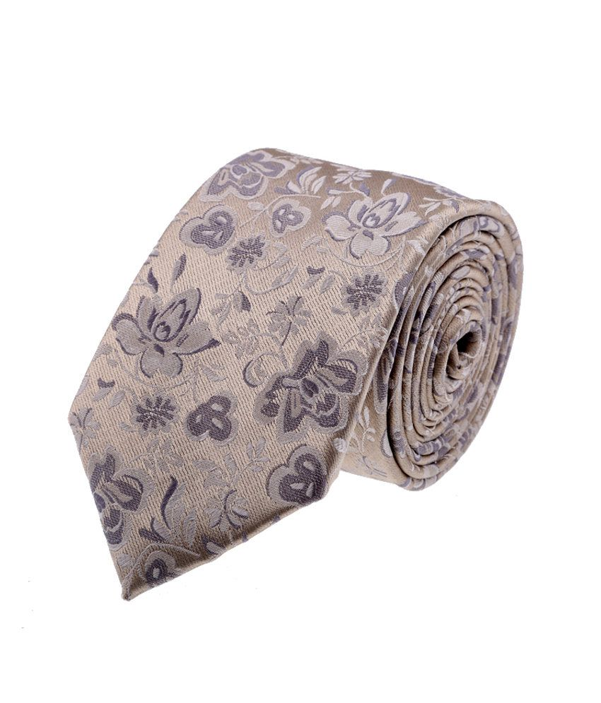 Van Heusen Gray Silk Casual Broad Ties