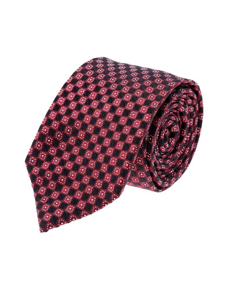 Van Heusen Red Silk Formal Broad Ties