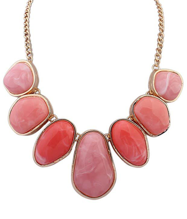Crunchy Fashion Pink Contemporary Necklace