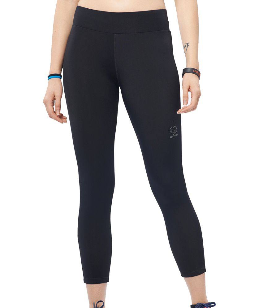 Restless Black/Turquoise Capri (Breathable Fabric )