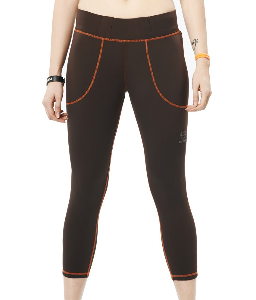 Restless Coffee Capri (Breathable Fabric )