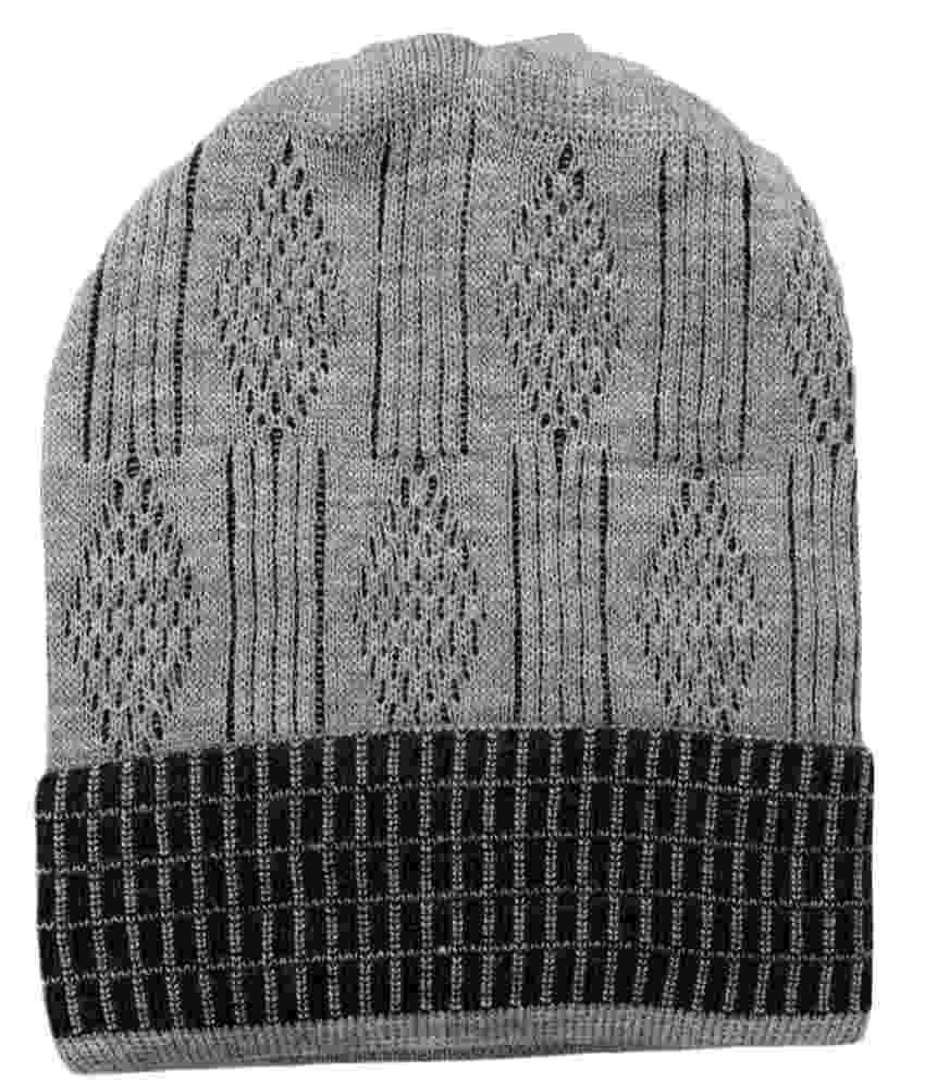 Ro Gray Woollen Winter Caps