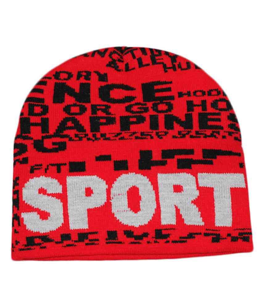 Ro Red Woollen Winter Caps