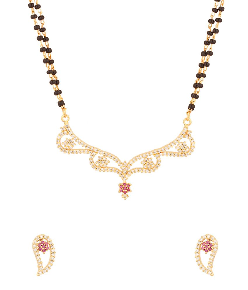 Voylla Double Chain Mangalsutra Encrusted With CZ