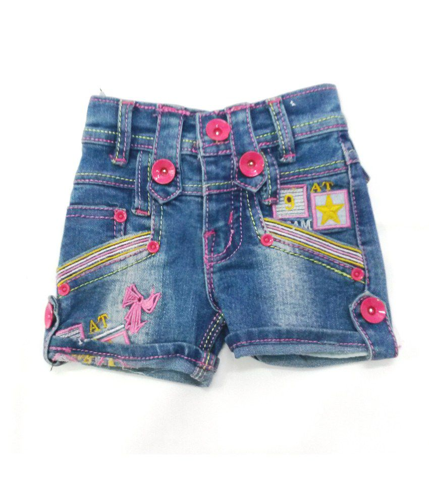 4s Blue Trendy Denim Shorts