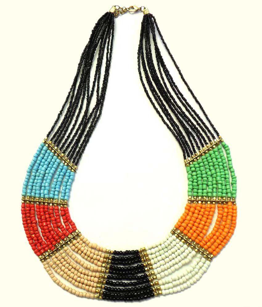 Beadworks Rainbow Trendy Necklace