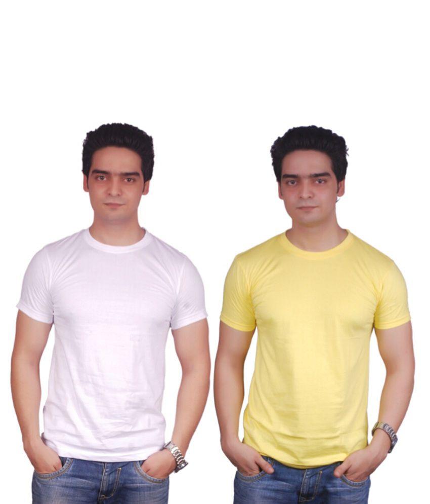 Okay Multi Cotton Blend T-shirt Pack Of 2