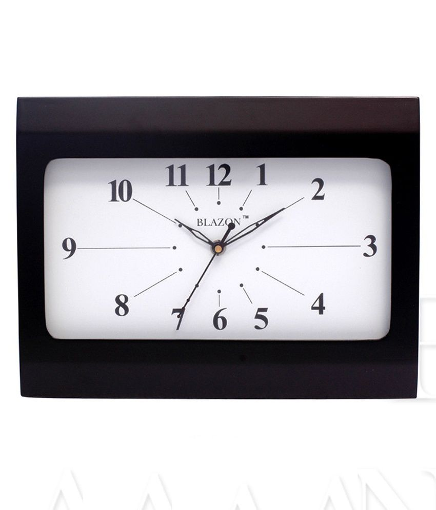blazon black rectangle shape wall clock buy blazon black  - blazon black rectangle shape wall clock