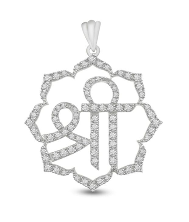 Ciemme 12.85 Ct Cz Shree Cluster Pendant 925 Sterling