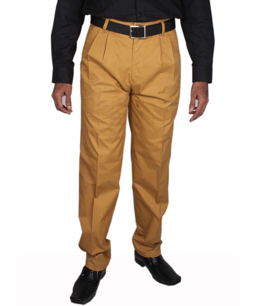 Maharaja Camel Yellow Men's Semi Formal Trouser