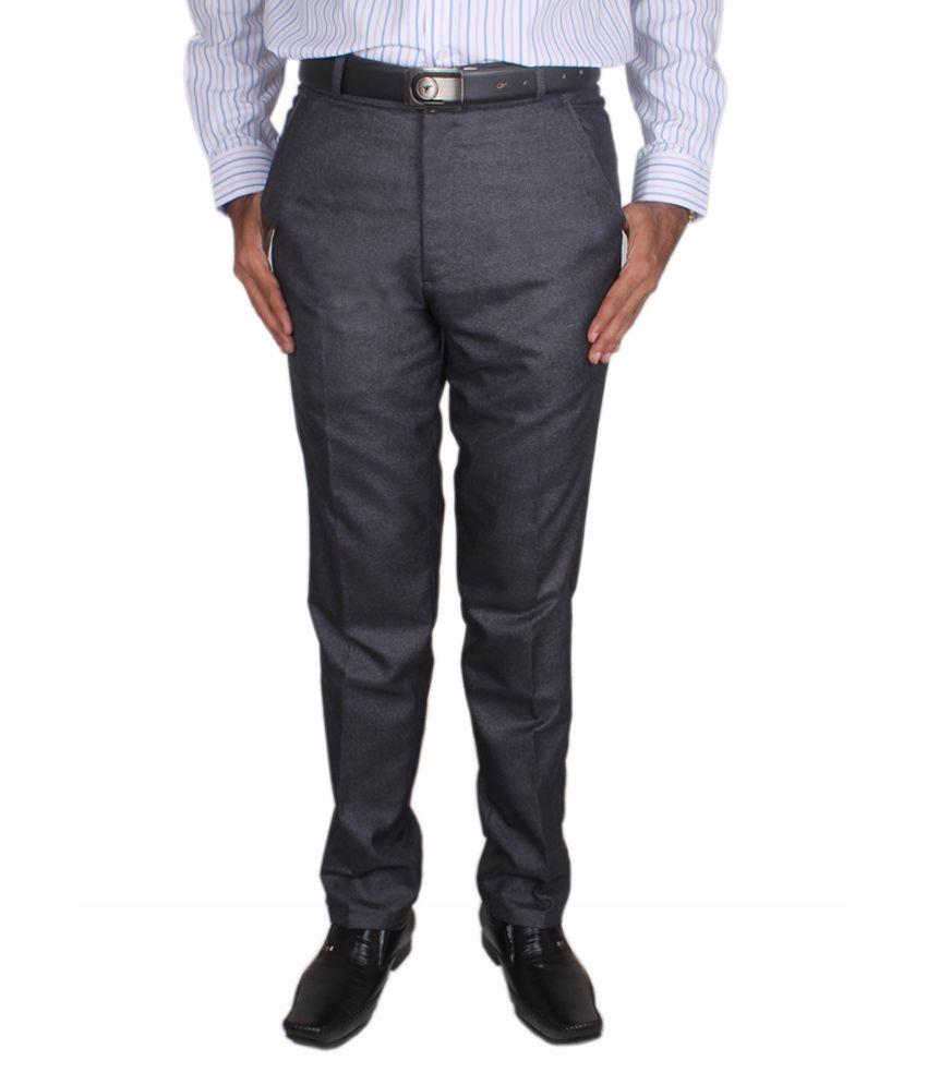 Maharaja Design Blue Men's Formal Trouser