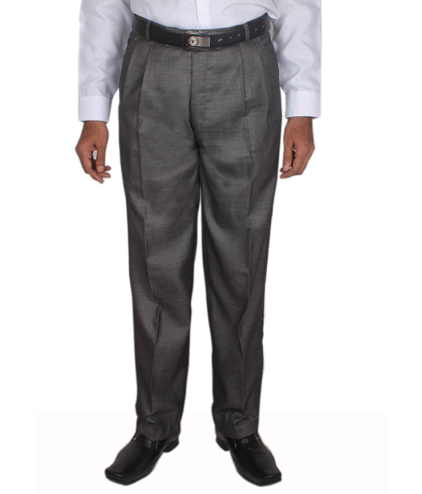 Maharaja Design Dark Grey Men's Formal Trouser