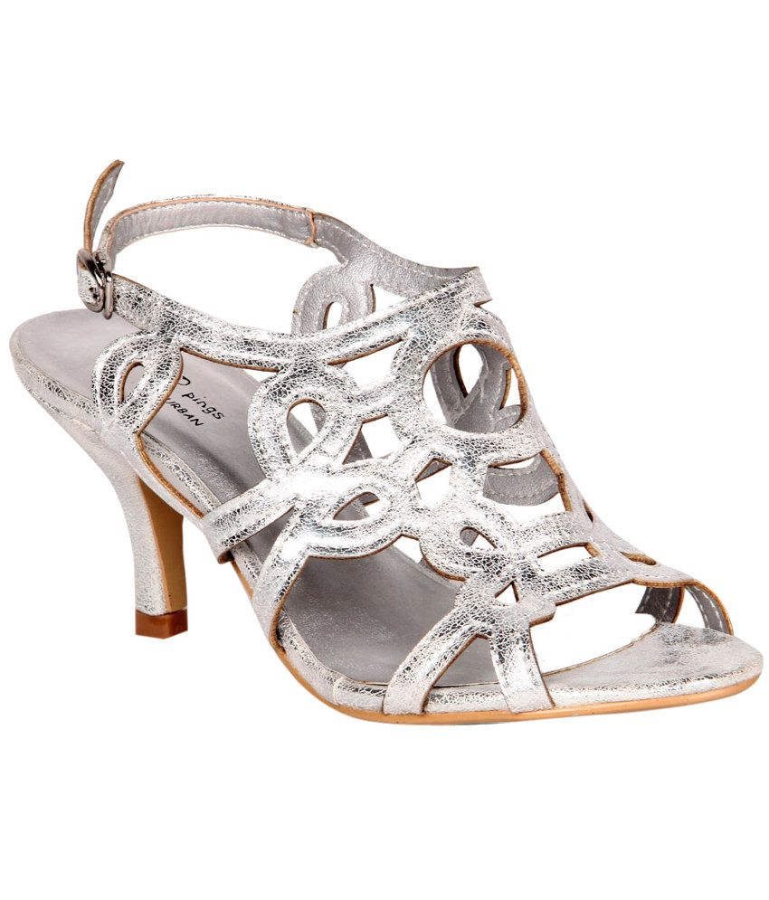 STEPpings Silver Stiletto Sandals