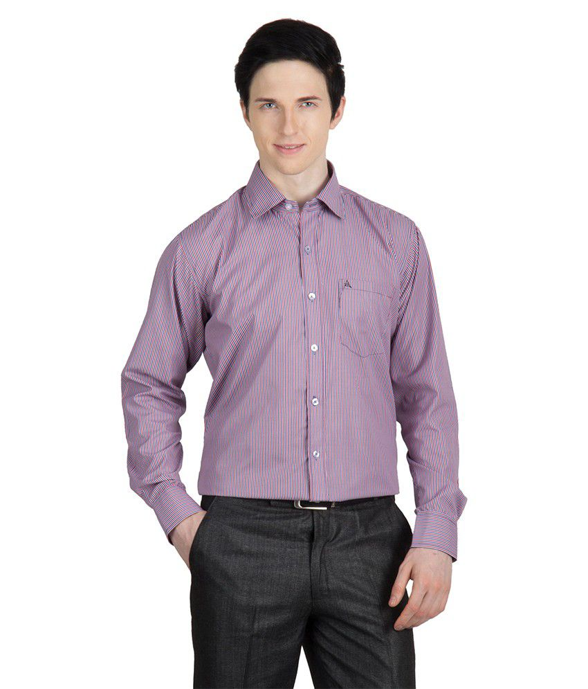 35e6af5bc30 Arihant Men s Formal Shirt-striped(purple)